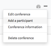 Add participants from the conference widget