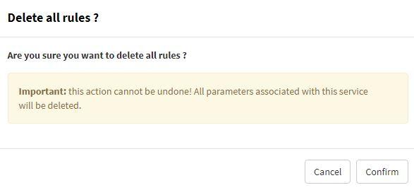 Delete all blacklist rules