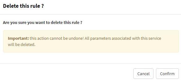 Delete blacklist rule