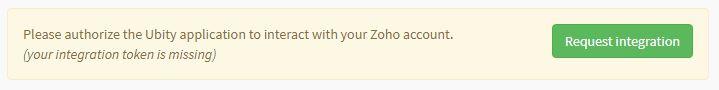 Request Zoho CRM integration