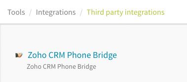 Zoho Phone Bridge