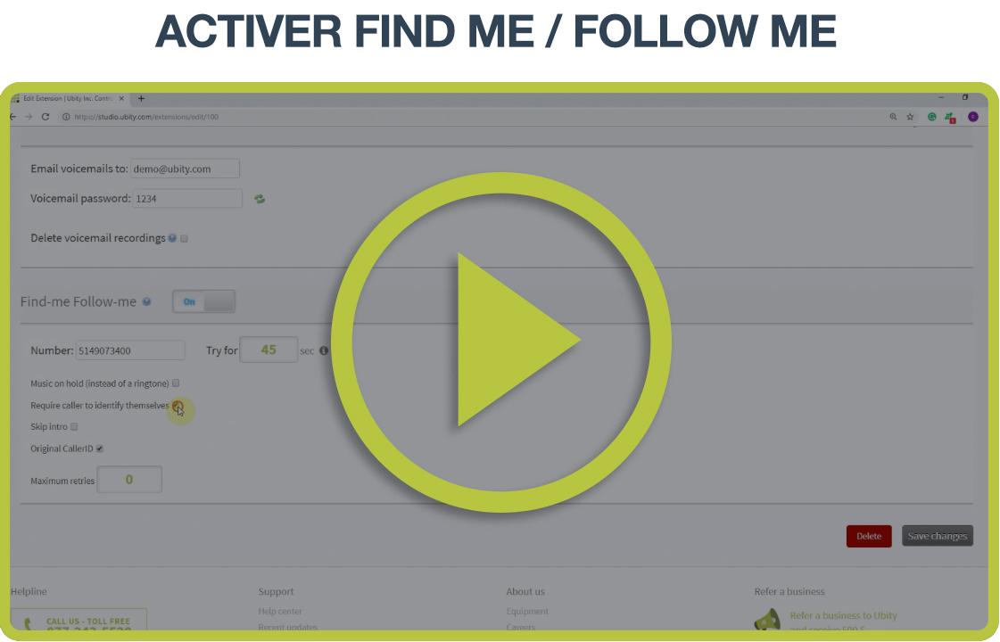 Tutoriel vidéo: Find me/Follow me