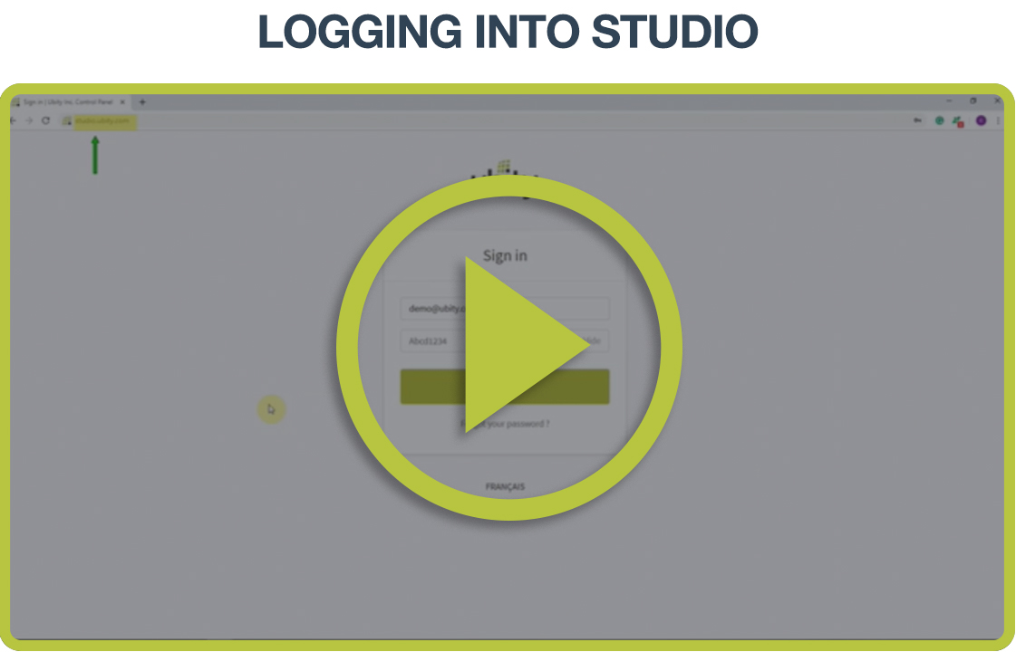 Video Tutorial: Log into Studio