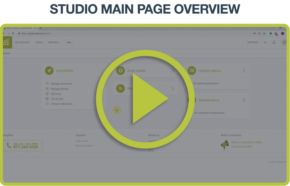 Video Tutorial: Main page