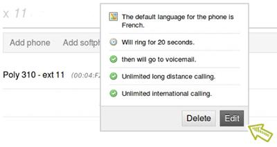 Edit setting of call recordings